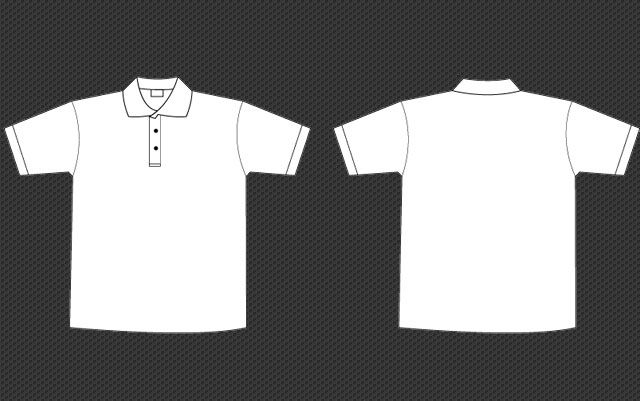 Polo collar tee template. Shirt clipart man shirt