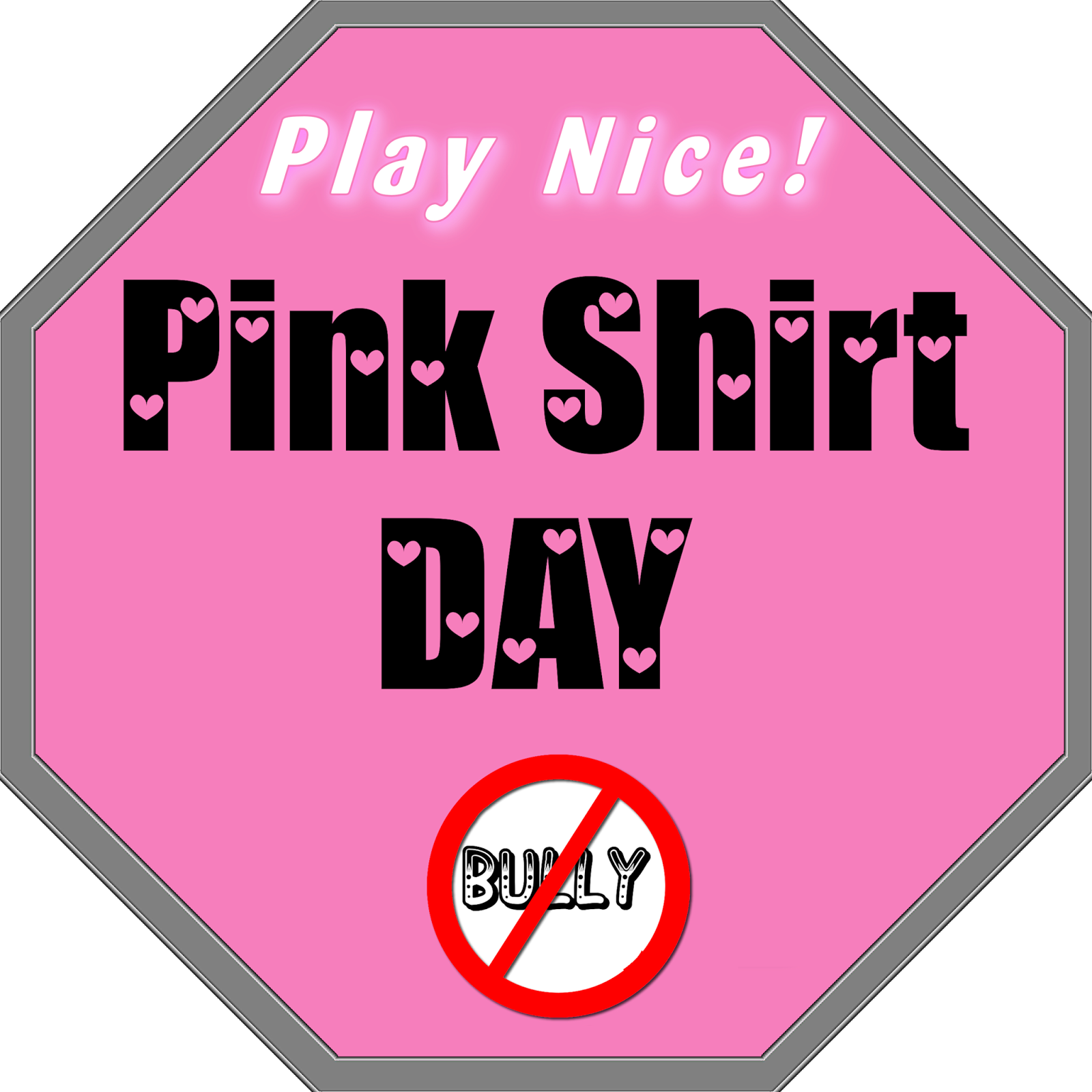 Student clipart bullying. Pink shirt day the