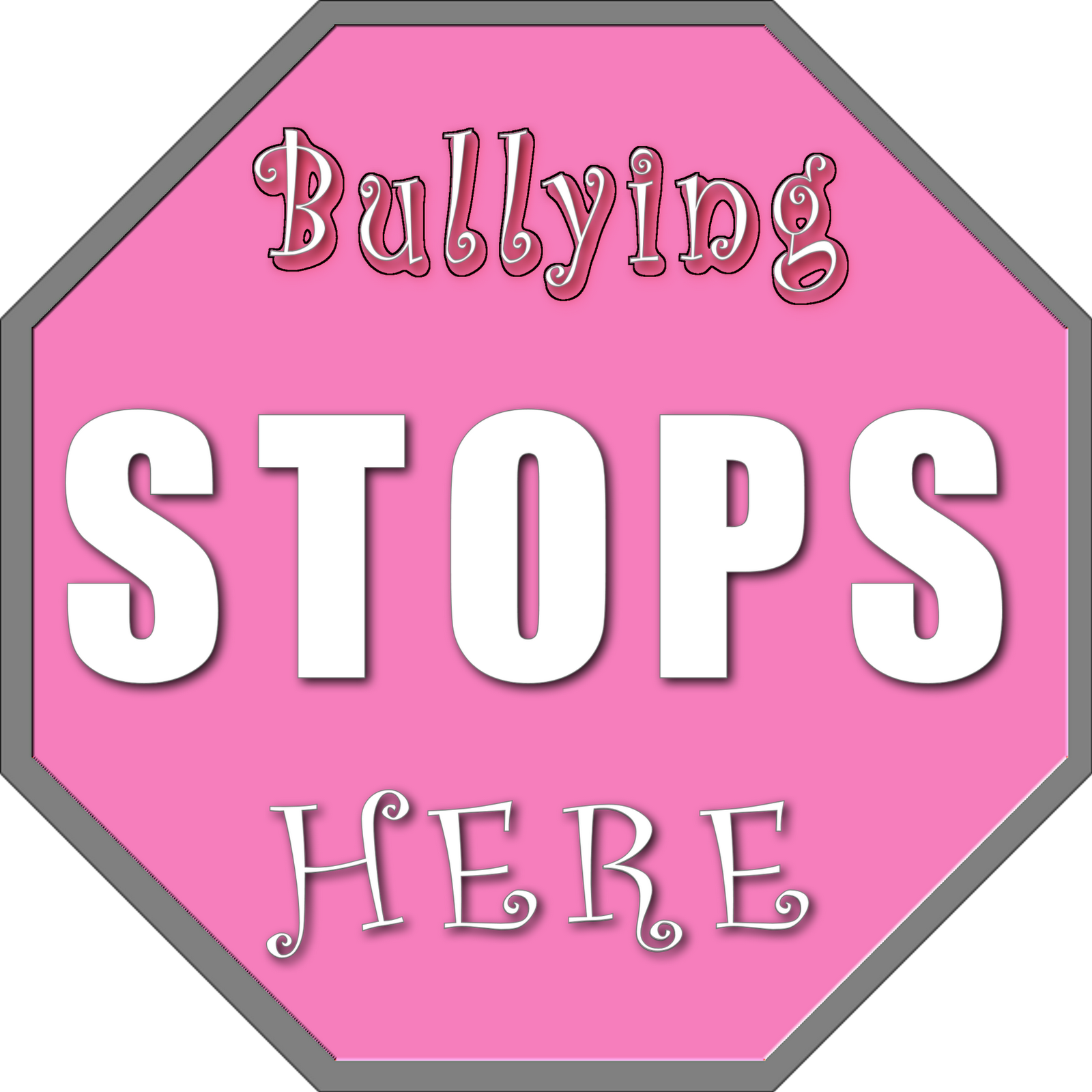 Pink the bullying stops. Clipart shirt day