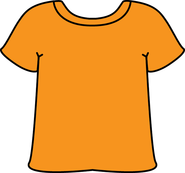 Clothing clipart shirt. Orange day saturday