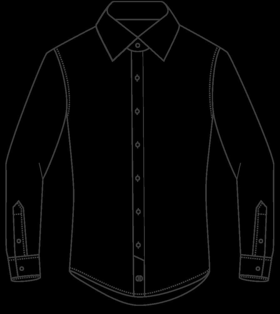 Shirts clipart crumpled. Dress shirt drawing at