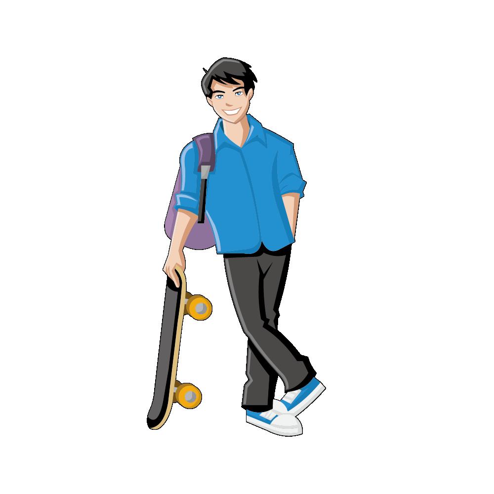 Male clipart janitor. Boy girl cartoon clip