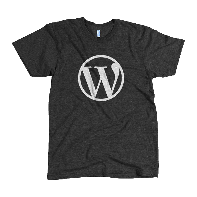 Clipart shirt gray shirt. Wordpress logo black tri