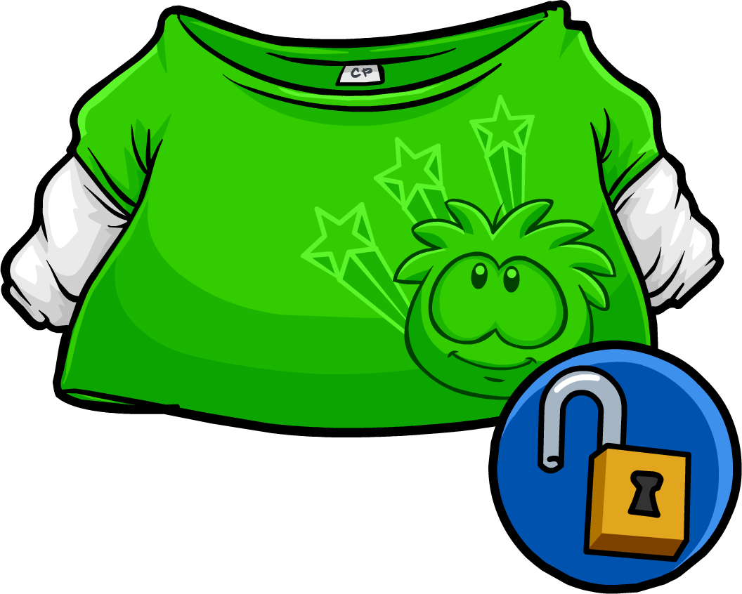 Clipart shirt green shirt. Skater club penguin wiki