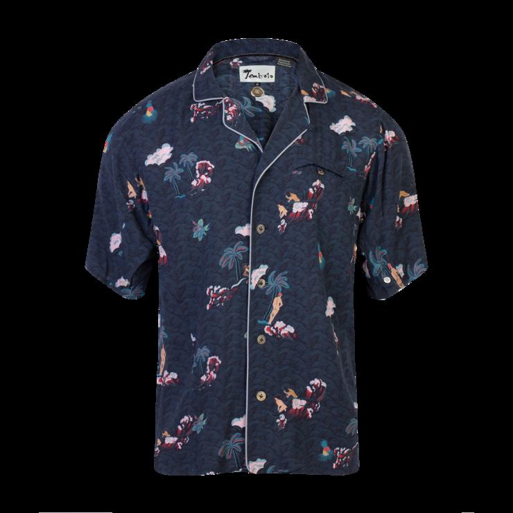Playa of eden navy. Clipart shirt hawaiian outfit