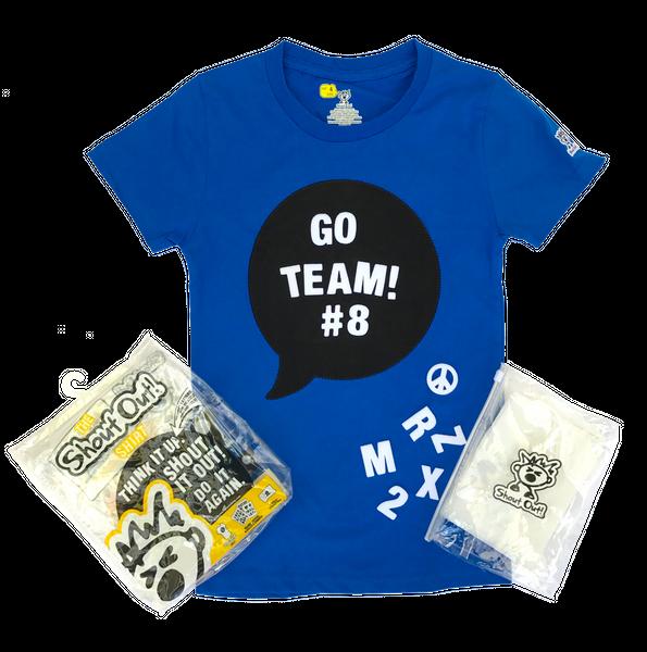 Clipart shirt kid shirt. Electric blue shoutout w