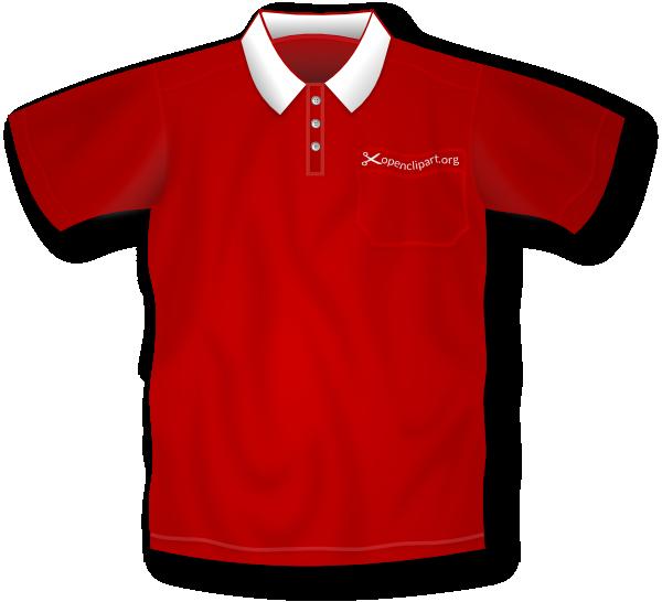 Red polo clip art. Clipart shirt kid shirt