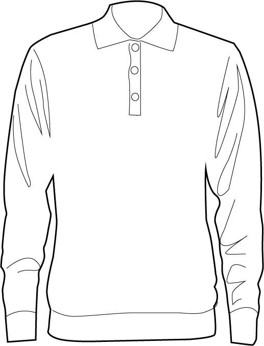 Clipart shirt long sleeve shirt. Drawing at getdrawings com