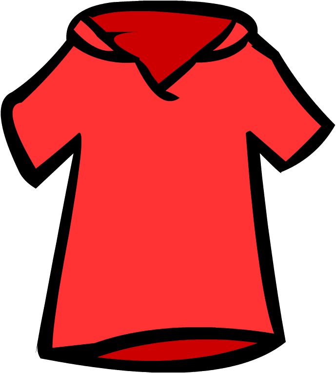 Image old polo shirt. Jersey clipart red jersey
