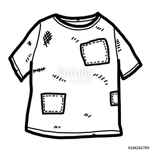 Clipart shirt old tshirt. T cartoon vector and