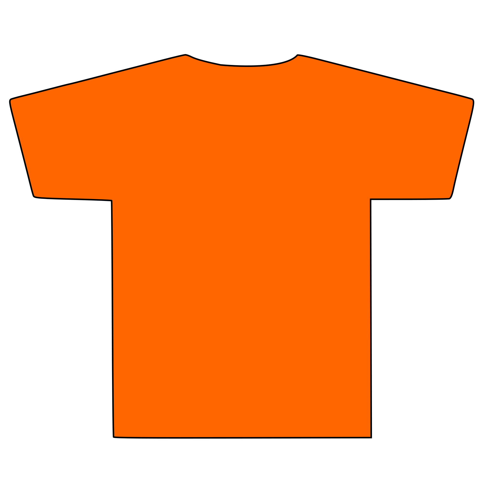 Clipart shirt orange shirt. T silhouette clip art