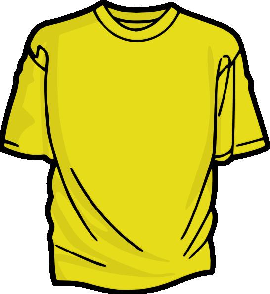 Clipart shirt orange shirt. Yellow t clip art