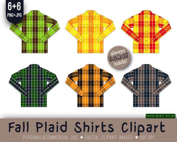 Fall flannel checkered . Clipart shirt plaid shirt