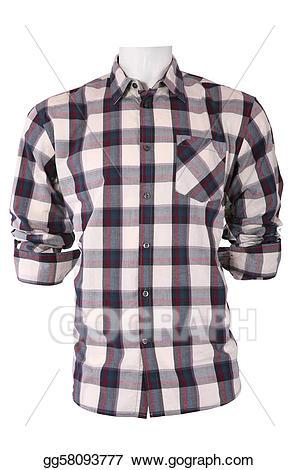 Clipart shirt plaid shirt. Male checkered on a
