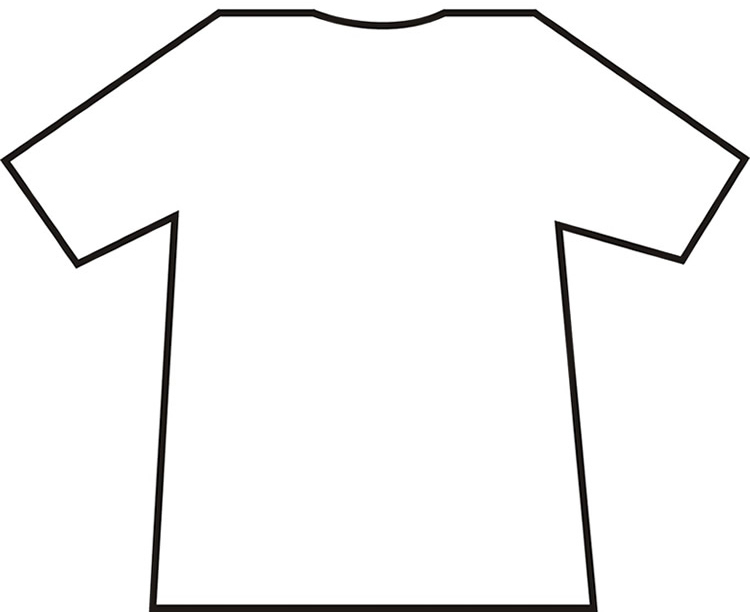Free t shirt outline. Jersey clipart tshirt