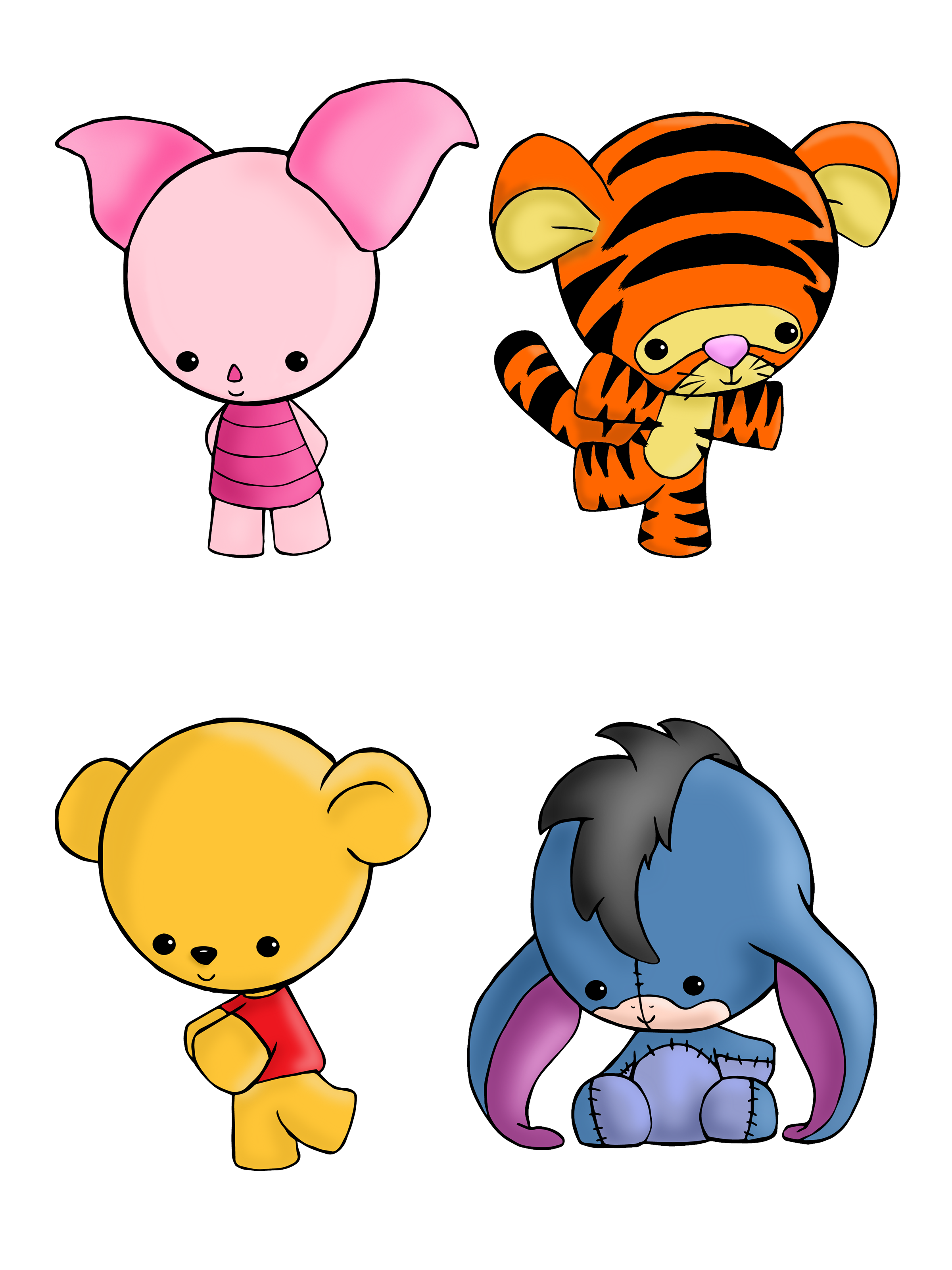 Hungry clipart rumble. Winnie the pooh set