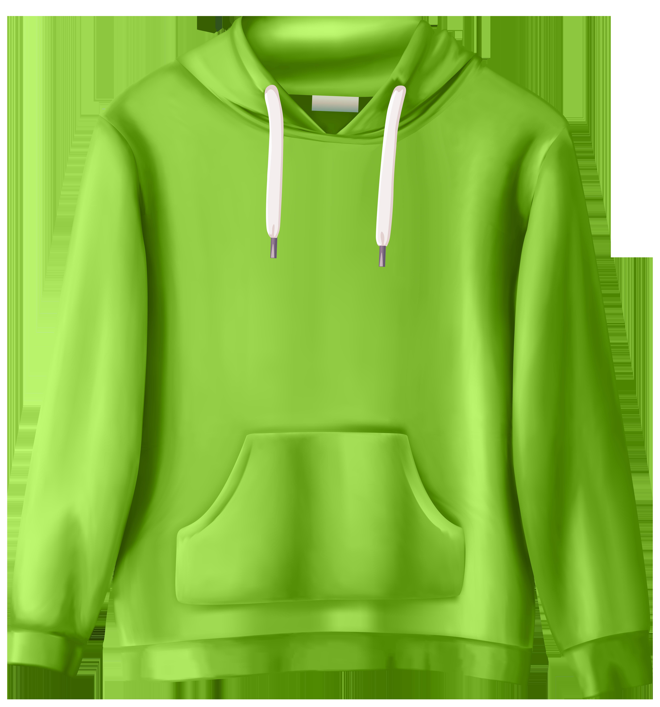 Hoodie clipart sweatshirt. Green png clip art