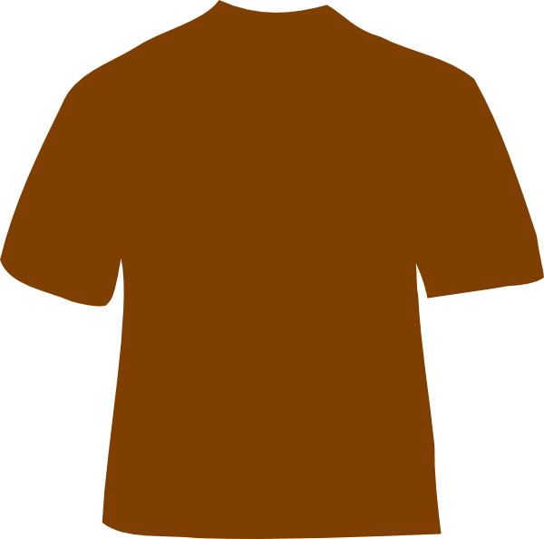 Clothing clipart sportswear. Brown shirt clip art
