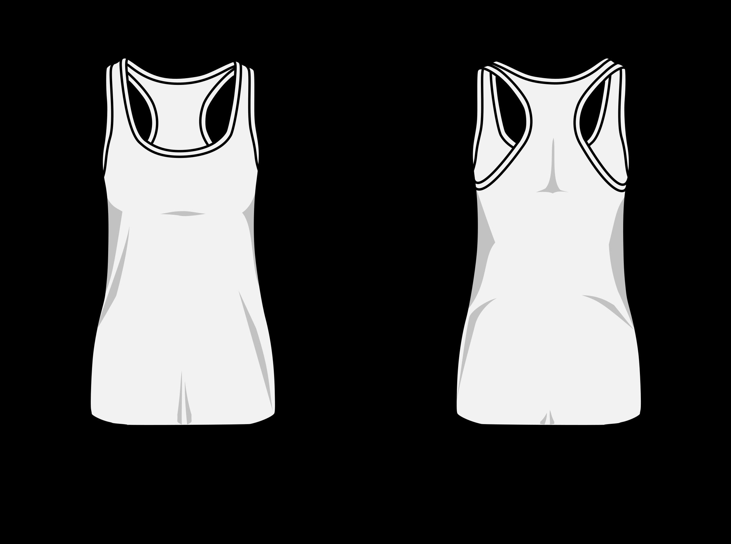 Clipart shirt woman shirt. T swimmer back template