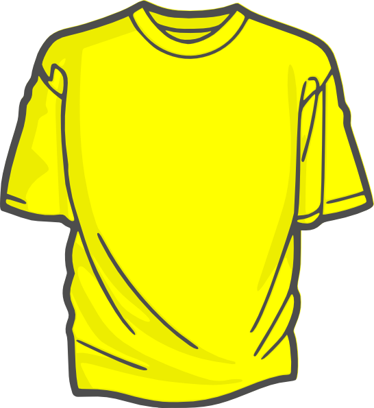 Clip art at clker. Clipart shirt yellow bag