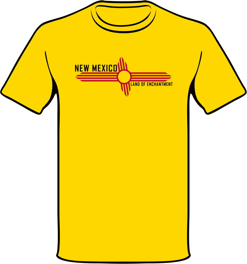 Clipart shirt yellow shirt. New mexico land of