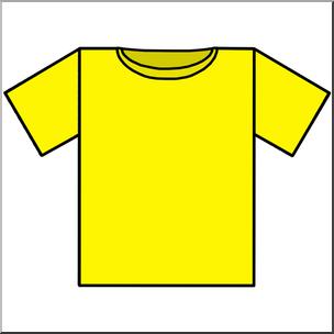 Clip art t color. Clipart shirt yellow shirt