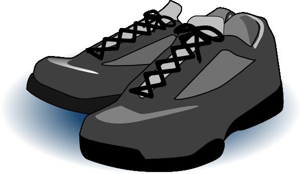 Black tennis clip art. Clipart shoes