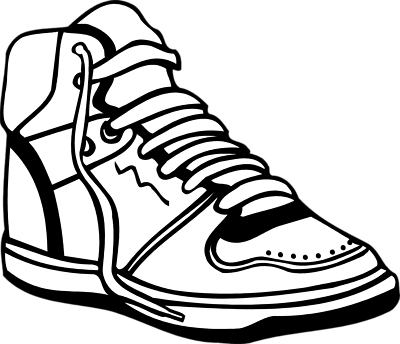 Clipart shoes. Sneaker tennis black and
