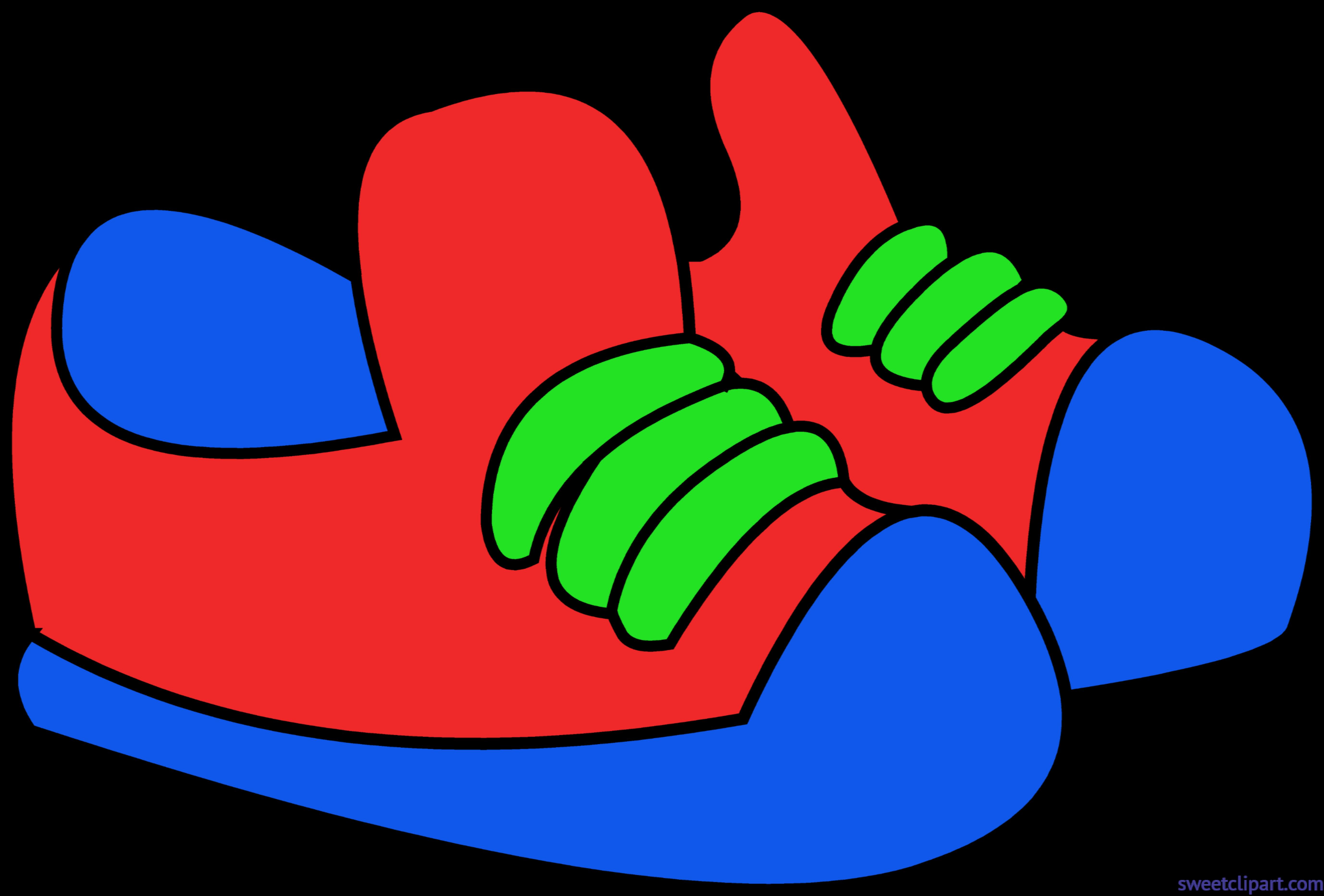 Kids shoes red blue. Heels clipart cinderella shoe