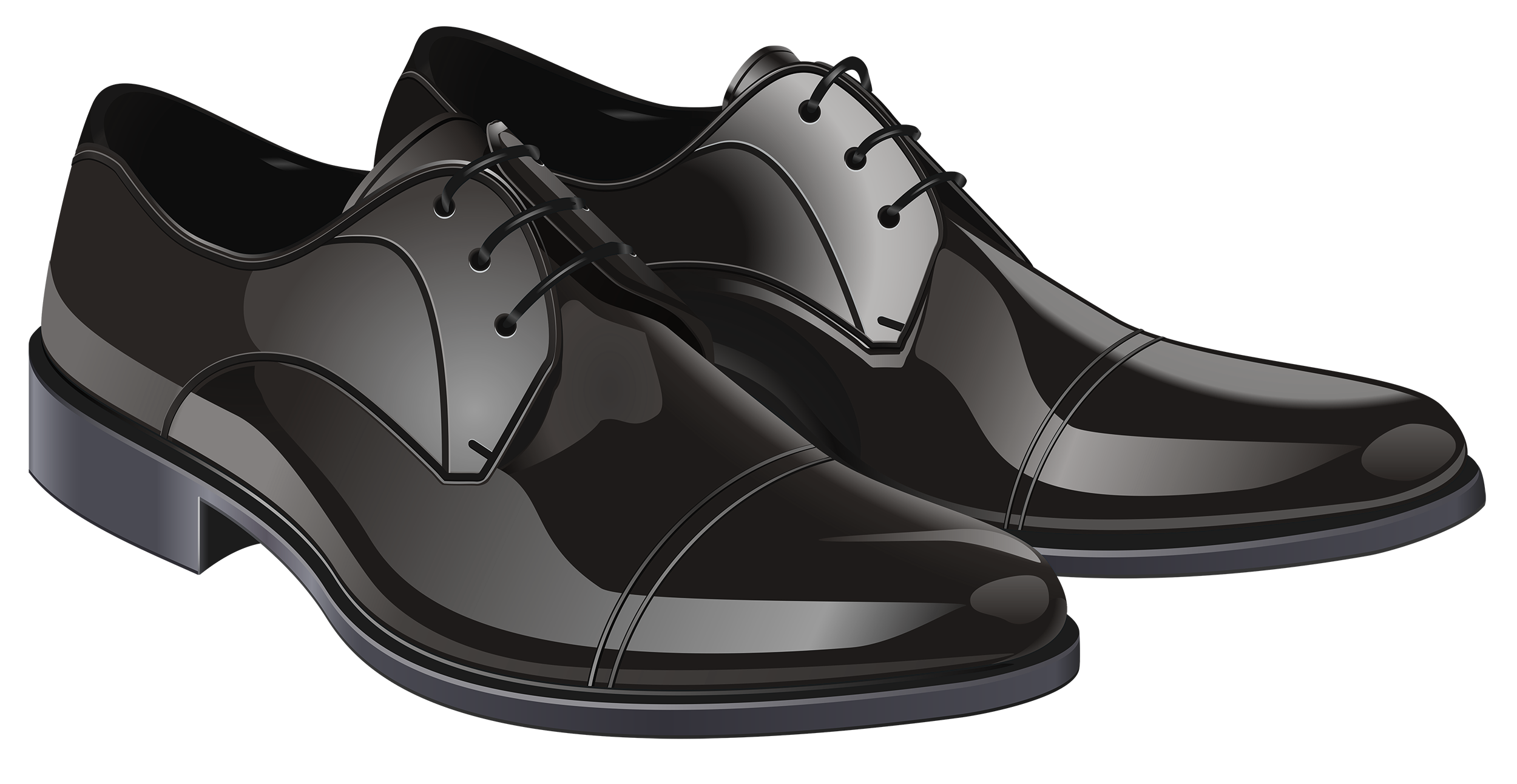 Black elegant men png. Clipart shoes