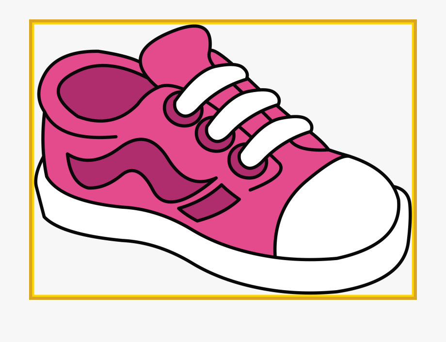 Pair of kid shoe. Clipart shoes