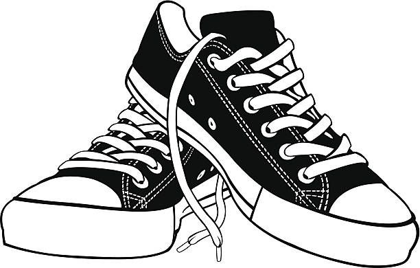 Pair pencil and in. Converse clipart boy shoe