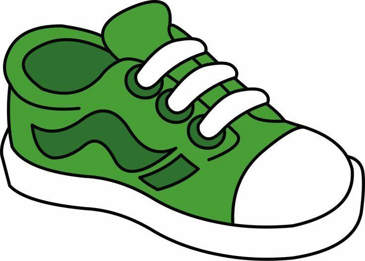 Gym green shoe pencil. Clipart shoes