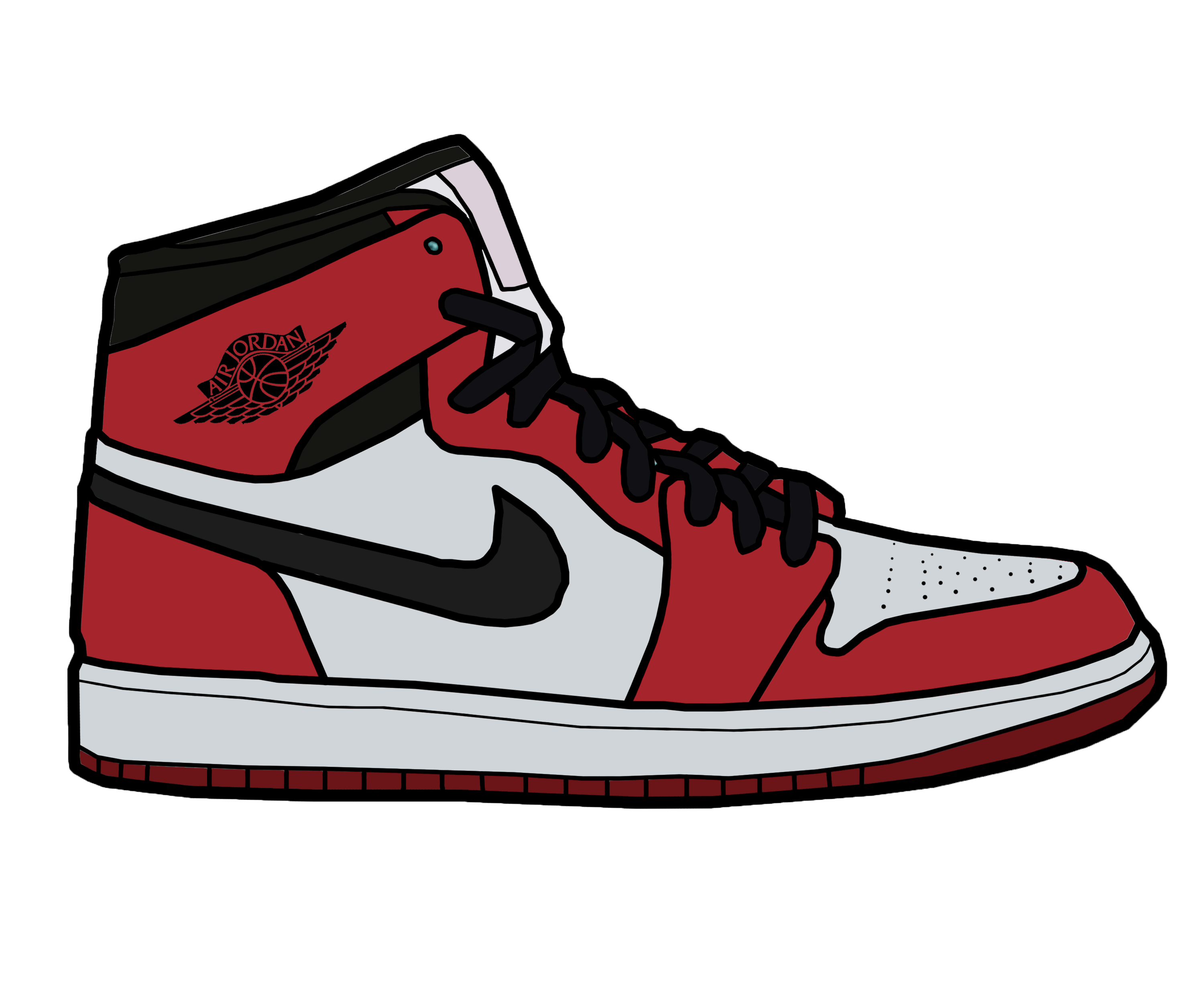 Shoe Drawing Jordans at GetDrawings
