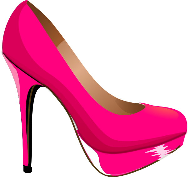High heel shoes silhouette. Families clipart shoe