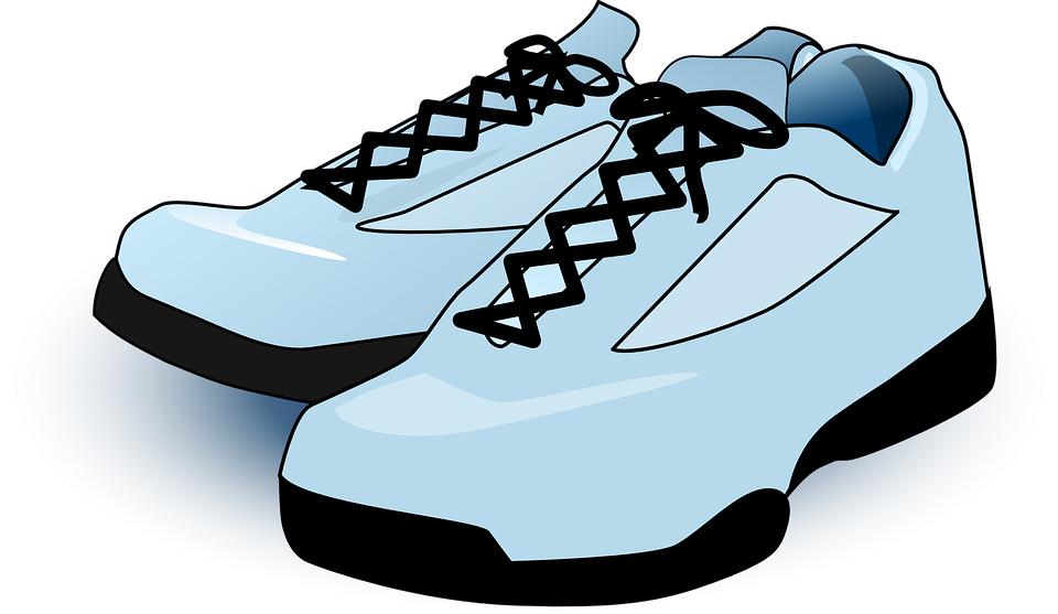 Running shoes for women. Converse clipart blue clipart