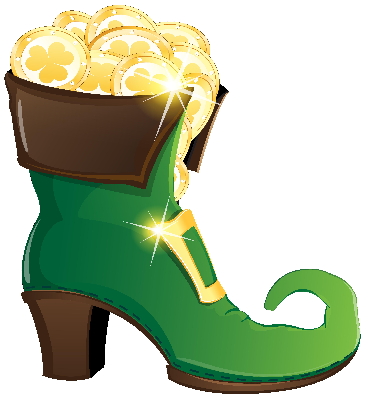 Heels clipart full. Leprechaun shoe with gold
