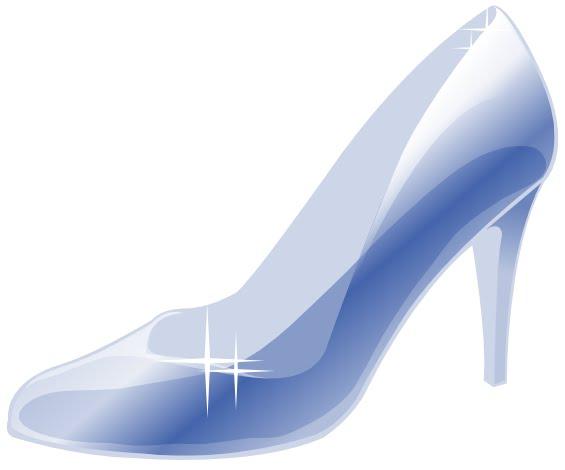 Free cinderella shoe cliparts. Heels clipart glass slipper