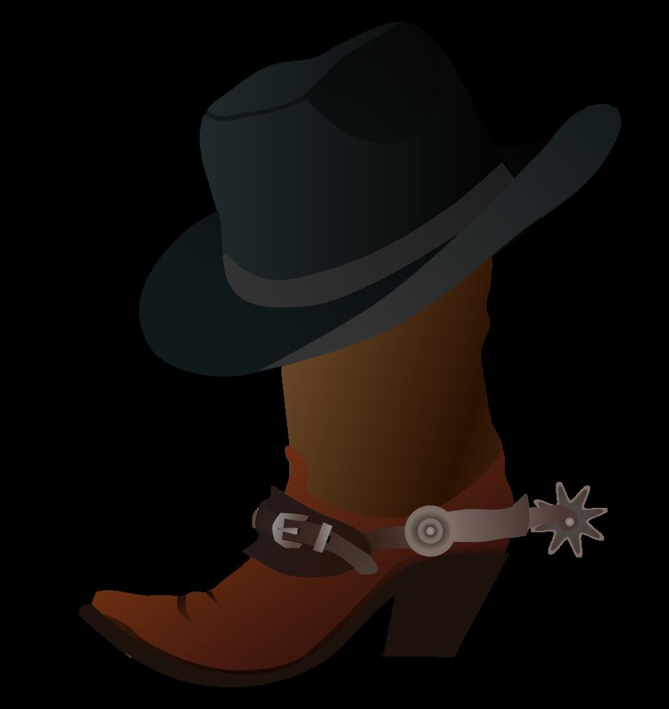 Public domain clip art. Cowboy clipart western person