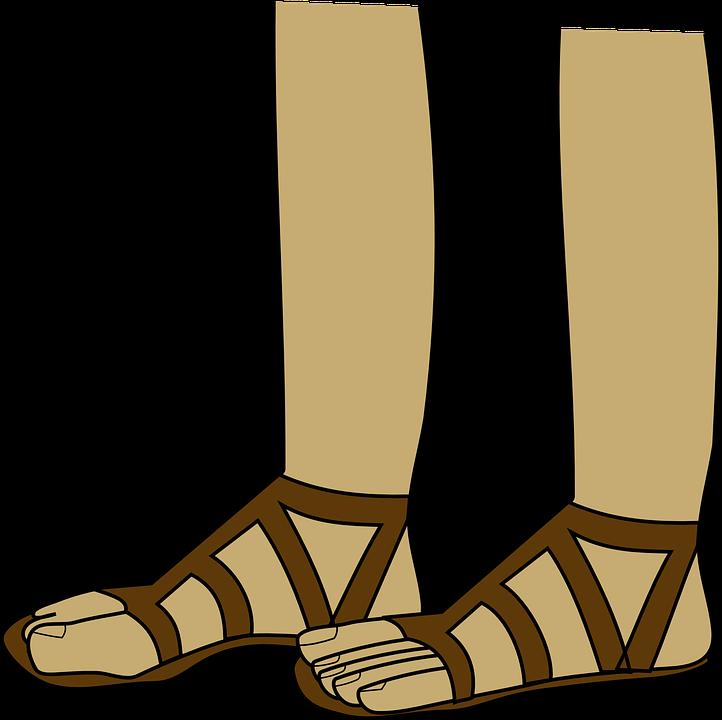 Sandal summer wear pencil. Clipart shoes clothes