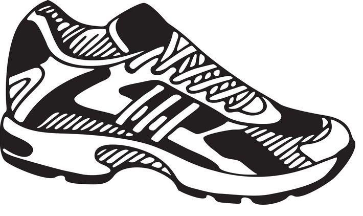Penny wars shoes sports. Footprint clipart tennis shoe
