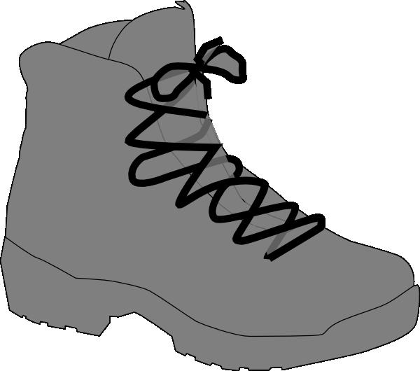 Grey boot clip art. Clipart walking vector