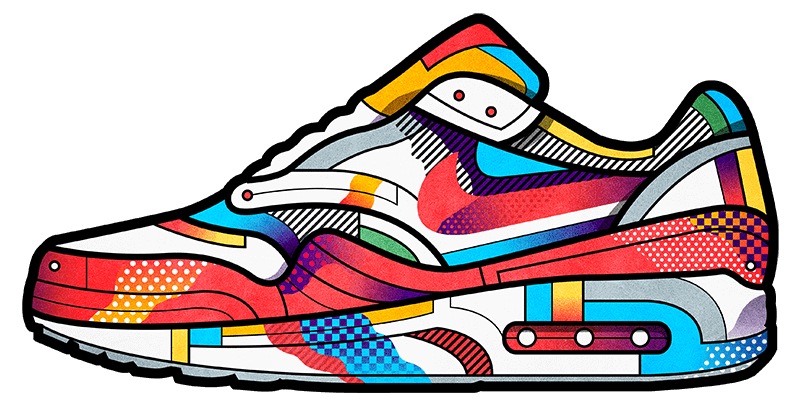 Jeans clipart jeans sneaker. Sneakers set in collaboration