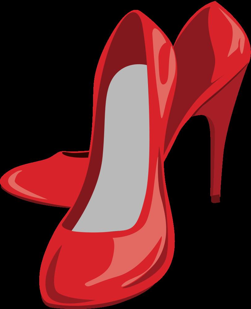 Heels clipart red heel. Onlinelabels clip art high