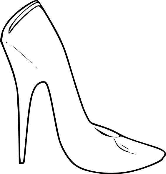 High heel shoes women. Heels clipart monster
