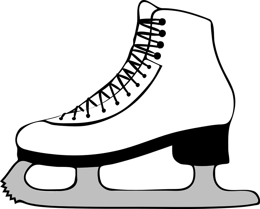 Skaters lessons tes teach. Ice clipart black and white