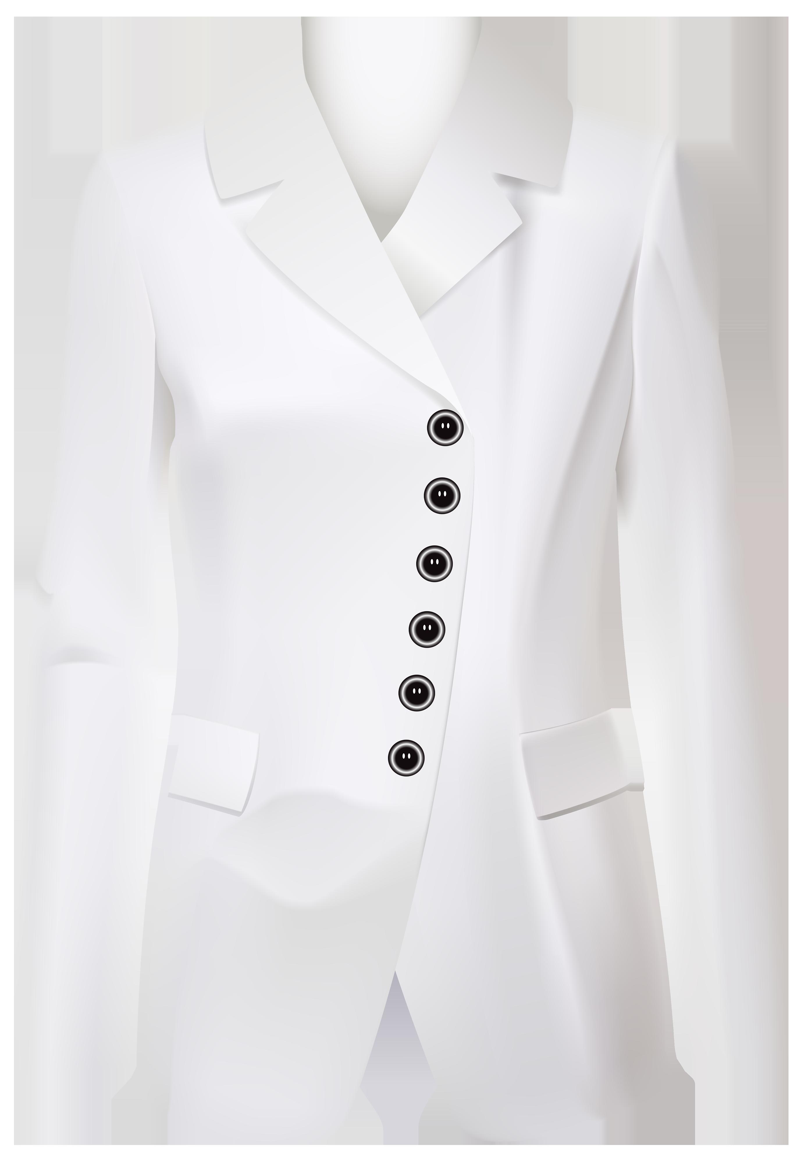 Female white jacket png. Suit clipart black blazer