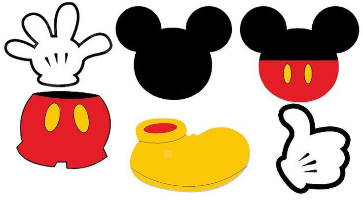 Mouse shoes birthday . Mickey clipart shoe