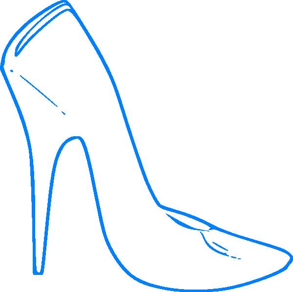 Heels clipart logo. Blue high heel clip