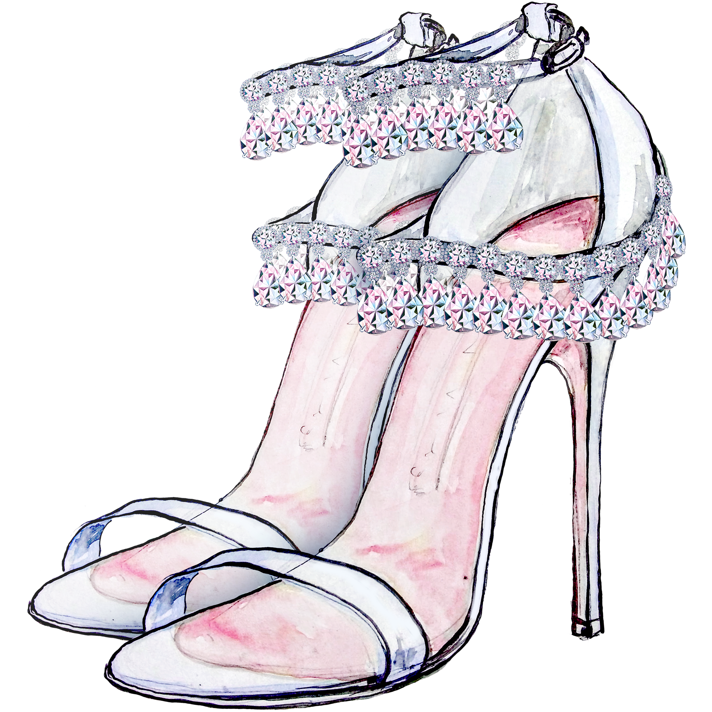 High heeled footwear dress. Heels clipart prom shoe